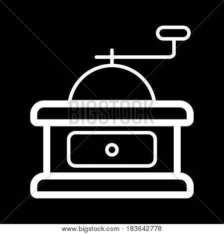 Coffee grinder vector icon. Linear design illustration. eps 10