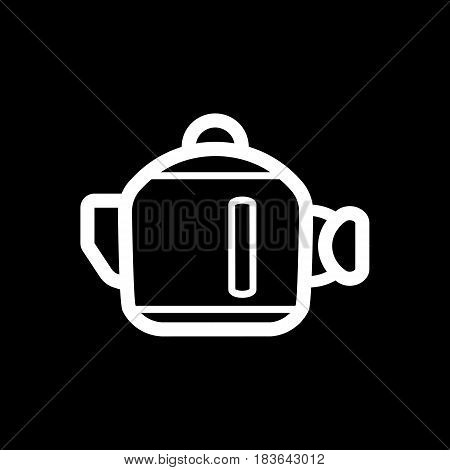 Kettle vector Icon. Isolated on black background. Eps 10