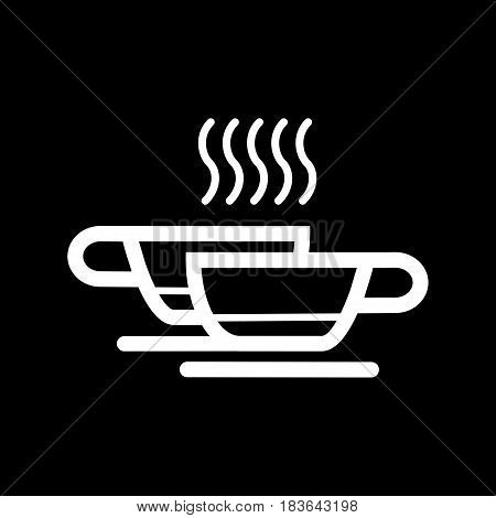 Two coffee cups with hot drink. vector icon. eps 10