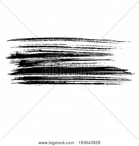 Ink Vector Brush Strokes. Vector Illustration. Grunge Hand Drawn Watercolor Texture.