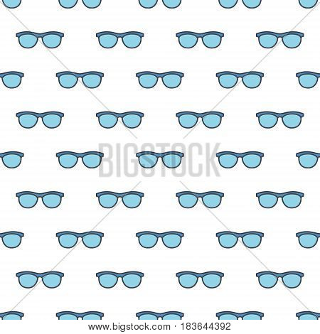 Spectacles vector pattern - colorful seamless texture made with eyeglasses