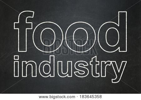 Industry concept: text Food Industry on Black chalkboard background