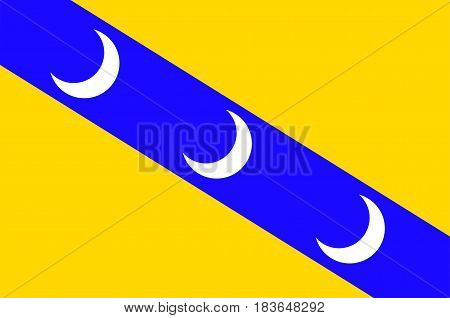 Flag of Luneville is a commune in the Meurthe-et-Moselle department in France. Vector illustration