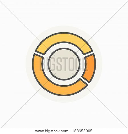 Pie chart creative icon - vector colorful round diagram sign