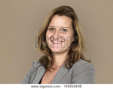 Adult woman corporate smiling headshot