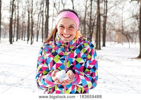 Happy Beautiful Winter Woman