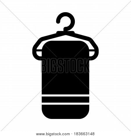 Towel on hanger vector icon isolated on white background. Towel on hanger icon. Towel on hanger icon for infographic, website or app. Eps 10