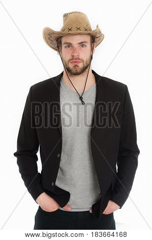 Business And Success, Couture Concept, Police And Farmer, American West