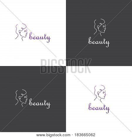 Vector eps logotype about beauty industry or spa massage salon in eps 10 horizontal and vertical view