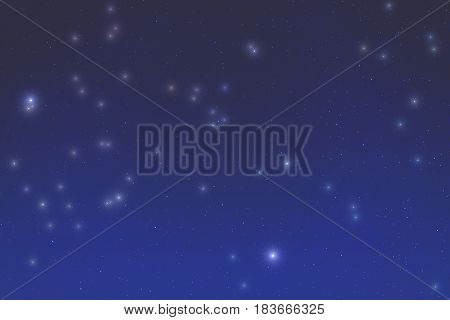 Milky way stars photographed with wide angle lens. 3D render / illustration.