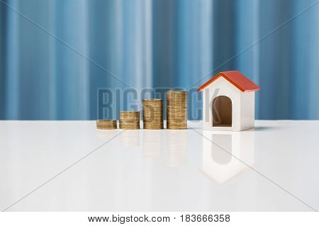 Money Growth Concept Saving To Buy House For Your Family.