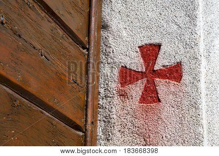 Cross Sumirago  Italy  Varese Abstract   Wall  Broke Brike