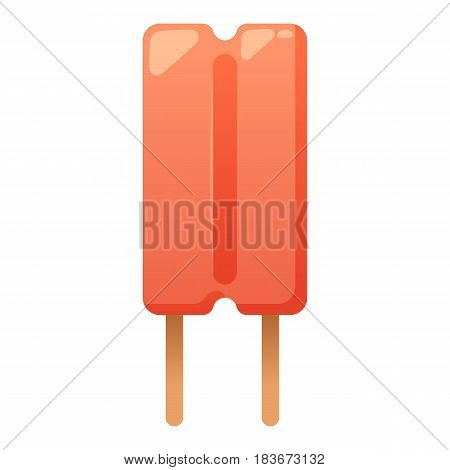Sweet cartoon cold ice cream and tasty cartoon frozen icecream vector delicious. Fruit colorful ice-cream dessert. Milk icecream vector illustration