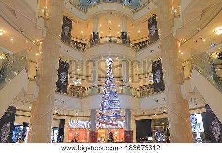 TAIPEI TAIWAN - DECEMBER 6, 2016: Unidentified people visit Taipei 101 shopping mall.