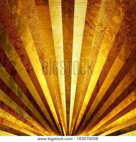 golden metal with striped design background