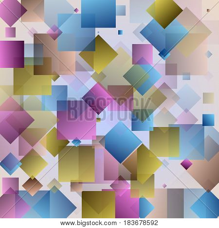 Modern colorful abstrakt y background with triangles and squares. Vector illustration