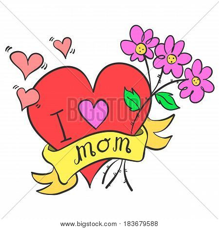 Collection stock mother day style vector art