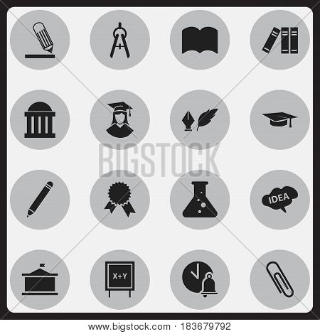 Set Of 16 Editable Graduation Icons. Includes Symbols Such As Mind, Univercity, Graduated Female And More. Can Be Used For Web, Mobile, UI And Infographic Design.