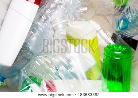 Photo of utilized PET bottles