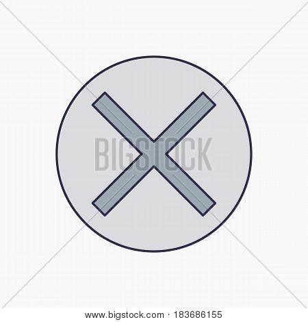 cancel icon line - vector eps 10