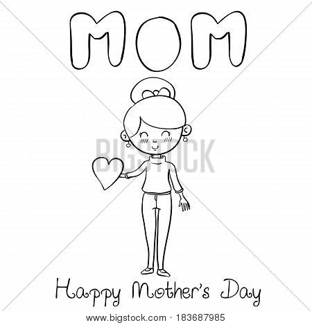 Happy mother day style vector art collection stock