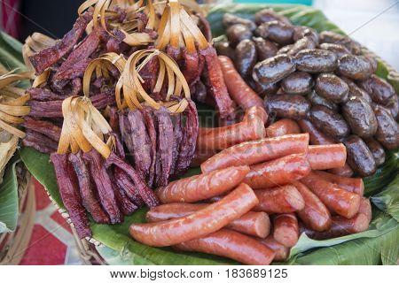 Laos Vientiane Pha That Luang Festival Lao Food