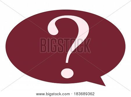Question Mark in bubble information sign vector