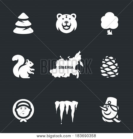 Forest, bear, tree, squirrel, card, cone, man, icicles, snowman.