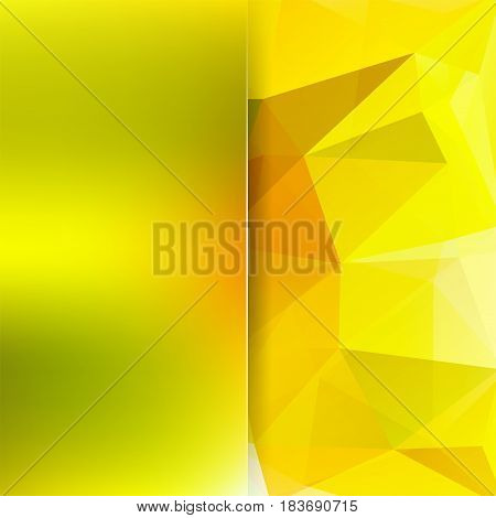 Background Made Of Yellow Triangles. Square Composition With Geometric Shapes And Blur Element. Eps