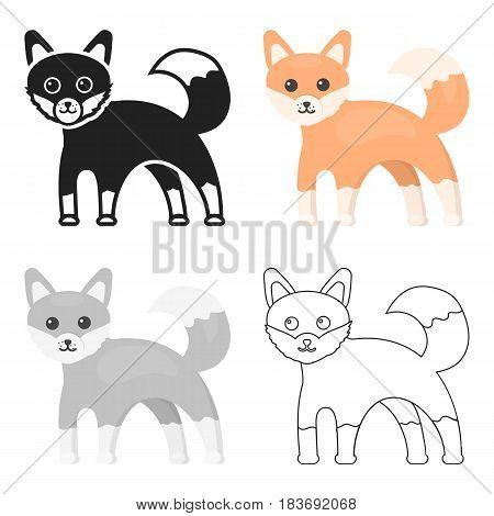 Fox icon cartoon. Singe animal icon from the big animals cartoon.