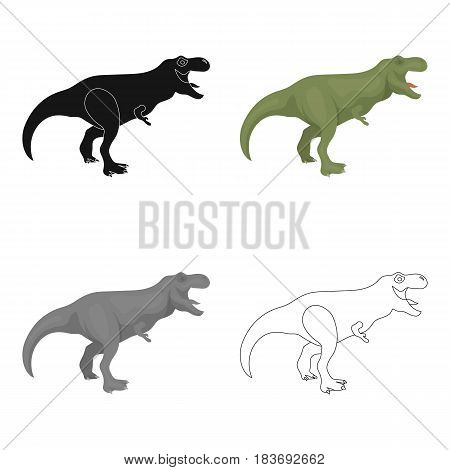 Dinosaur Tyrannosaurus icon in cartoon design isolated on white background. Dinosaurs and prehistoric symbol stock vector illustration.