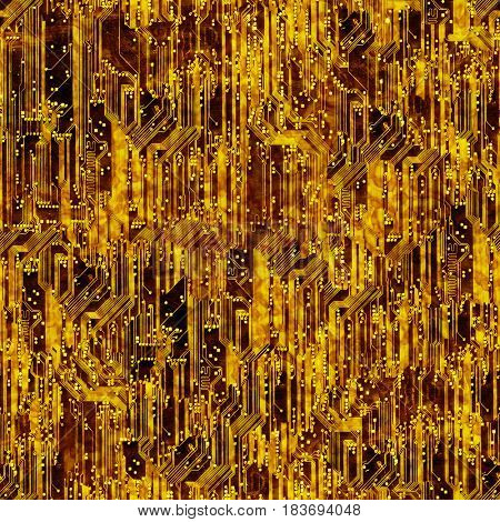 Seamless circuit board background.