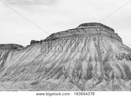 Book Cliffs Near Grand Junction In Monochrome