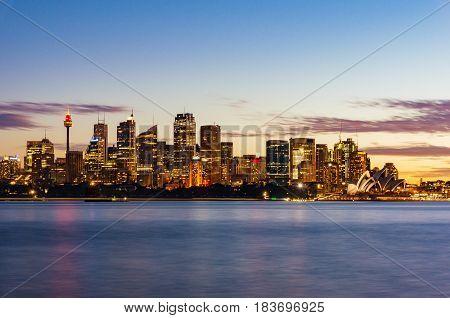 Sydney Cityscape At Sunset