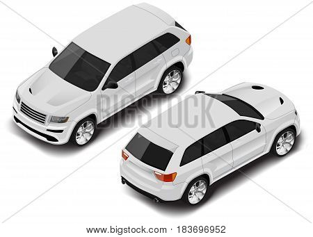 Vector isometric car icon. Transport for infographics or any other uses
