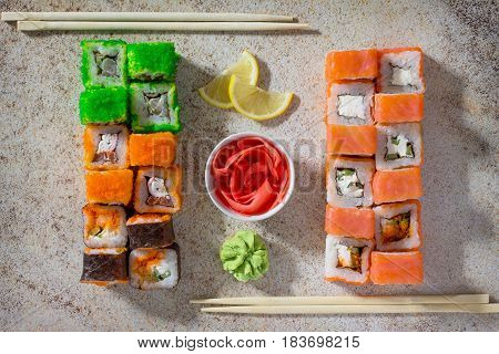 Sushi Seth Roll - Roll Green Mile, Roll Mr.krabs, Roll Okinawa, Roll Philadelphia Classic, Roll Chee