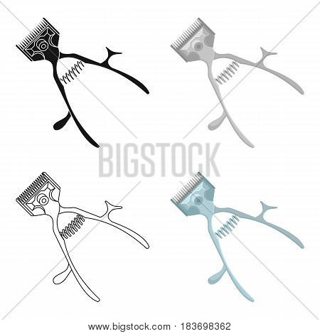 Mechanical hair clipper.Barbershop single icon in cartoon style vector symbol stock illustration .