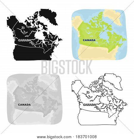 Map of Canada. Canada single icon in cartoon style vector symbol stock illustration .