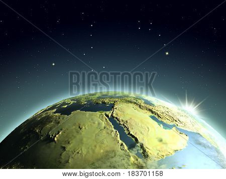 Sunrise Above Middle East