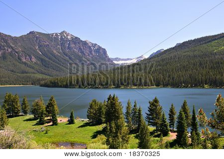 Highlite Lake at Gallatin National Forest, Bozeman, Montana, USA