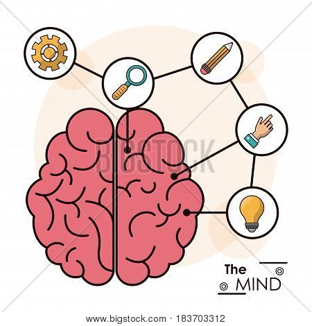 the mind human brain memory smart creative idea vector illustration