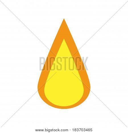 fire flame icon over white background. colorful design. vector  illustration
