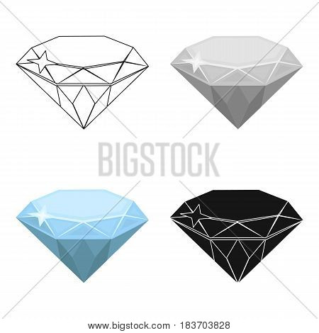 Gem diamond. A valuable prize in the casino.Kasino single icon in cartoon style vector symbol stock web illustration.