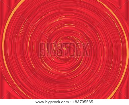 Red and Yellow Colors Whirlpool Background for Your Design. Vectos Illustration.