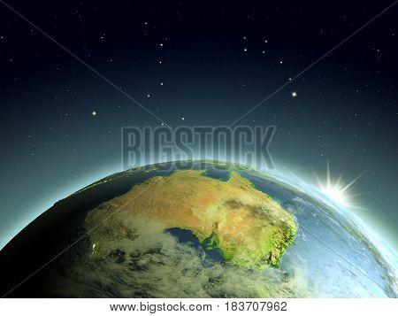 Sunrise Above Australia