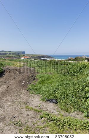Walking Through The Municipality Of Ajo In Cantabria