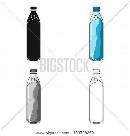 A bottle of water. Water to cool the bicyclist while riding.Cyclist outfit single icon in cartoon style vector symbol stock web illustration.