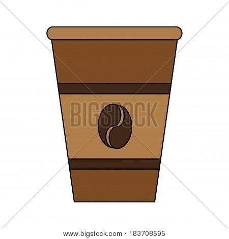 color graphic glass disposable for hot drinks vector illustration