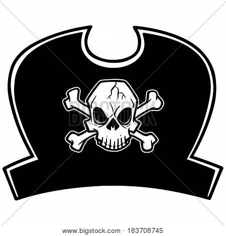 A vector illustration of a Pirate Hat.