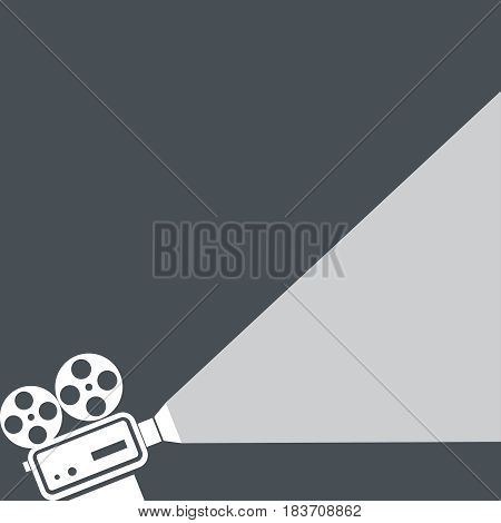 Movie projector icon isolated on background. Vector illustration. Eps 10.
